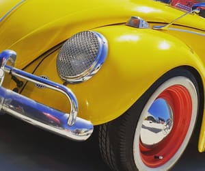 cars, volkswagen, and yellow image