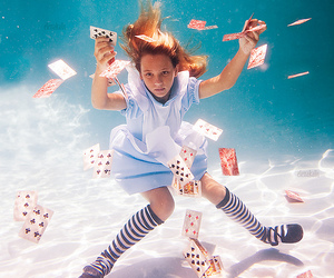 alice, cards, and alice in wonderland image