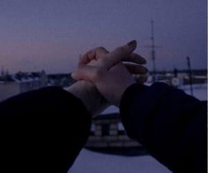alone, hug, and night image