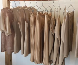aesthetic, clothes, and brown image