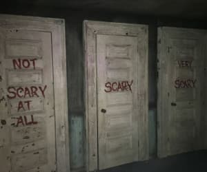scary, dark, and door image