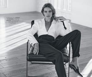 black and white, Natalia Vodianova, and photography image