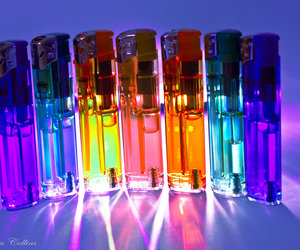 rainbow and lighters image