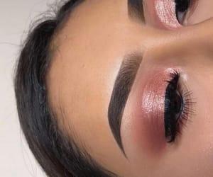eyebrows, pink, and eyelash image