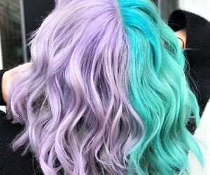 aqua, hair, and lavender image