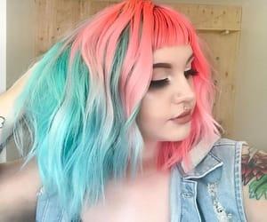aqua, colored hair, and pink image