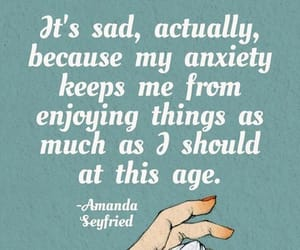 quotes, anxiety, and sad image