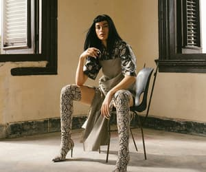 editorial, over the knee boots, and high fashion image
