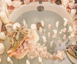 bath, crystals, and witchy image