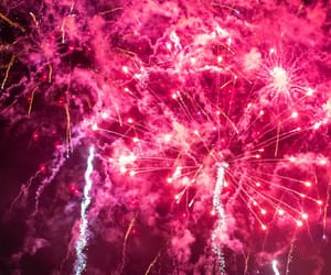 firework and pink image