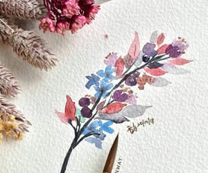 arte, dibujo, and acuarelas image