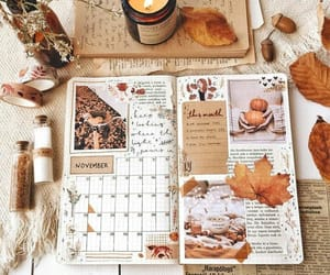 arte, otoño, and cuaderno image