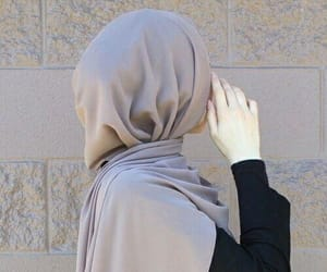 hijab, model, and muslim image