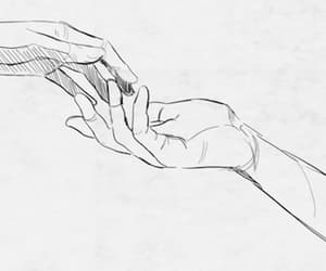 drawing, gif, and hands image