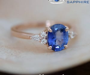 engagement ring, blue sapphire, and sapphire ring image