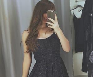 bangs, dress, and girl image