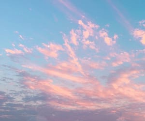 clouds, pink, and skies image