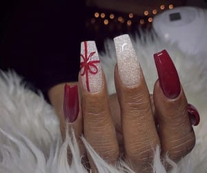christmas, goals, and manicure image