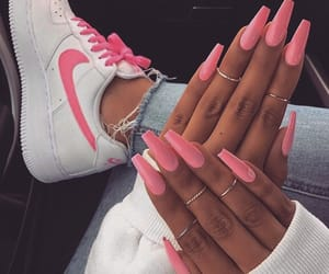 nails, pink, and nike image