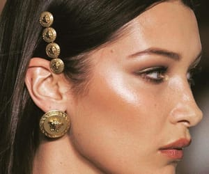 bella hadid, makeup, and model image