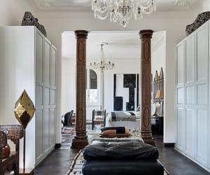 interior, bedroom, and chandelier image