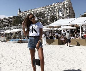beach, Calvin Klein, and sea image