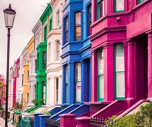colorfull, london, and Notting Hill image