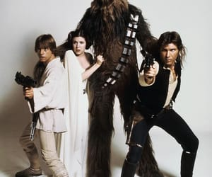 han solo, star wars, and leia image