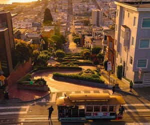 cable car, california, and city image