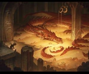 dragon, gold, and sleep image