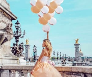 aesthetic, balloon, and dress image