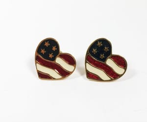 4th of july, politics, and heart earrings image