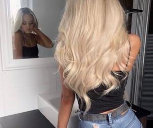 blonde hair, girl, and hair image