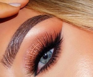 acrylic, blonde, and makeup image