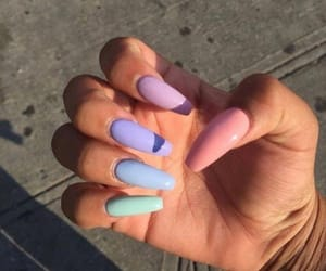nails, pastel, and style image