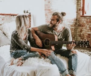 couple, goals, and guitar image
