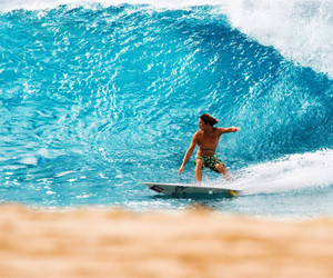 surfer, surfing, and waves image