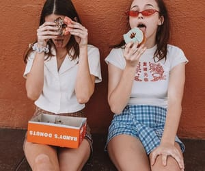 donuts, friendship, and cute image