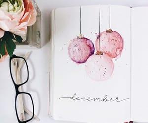 art, rose, and writing image