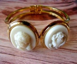 etsy, clamper bracelet, and gold plated bracelet image