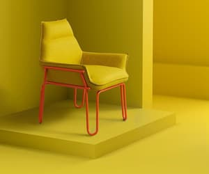 chairs, furniture, and yellow image