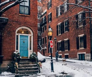 city, winter, and architecture image