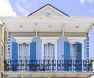 architecture, new orleans, and blue image