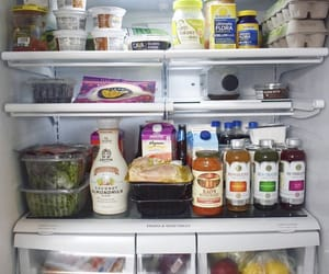 almond milk, fridge, and FRUiTS image