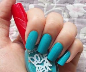 blue, musa, and nail polish image