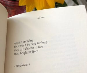 flowers, quotes, and book image