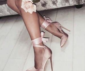 heels, shoes, and pink image