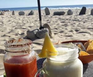 beach, drink, and santos image