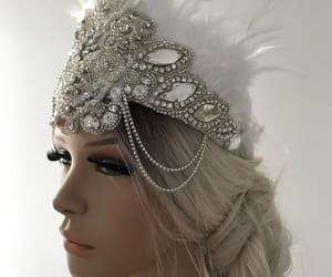 etsy, crystal crown, and bridal accessories image