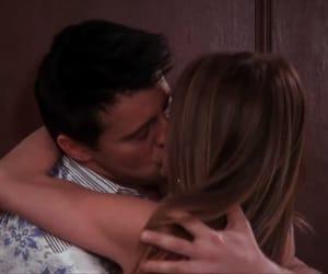 joey tribbiani, joey and rachel, and kiss image